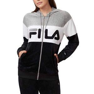*NWT* Fila Velour zip up Jacket Size- XL